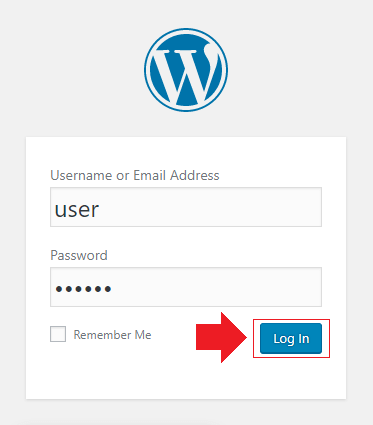 login to wordpress from dashboard