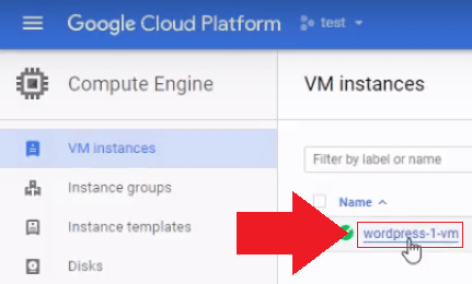 Go back to your Google Cloud platform VM instances page, and click on your WordPress instance manage wordpress files on google cloud