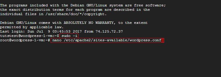 access wordpress.conf file ssl wordpress