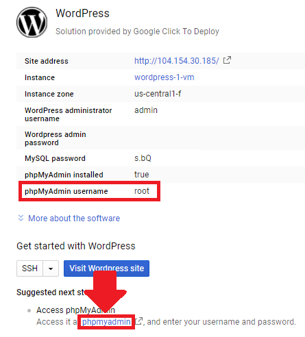setup and install wordpress on google cloud platform click-to-deploy