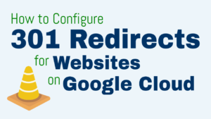 301 redirect google cloud platform