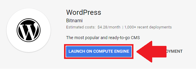 setup and install wordpress on google cloud launch on compute engine