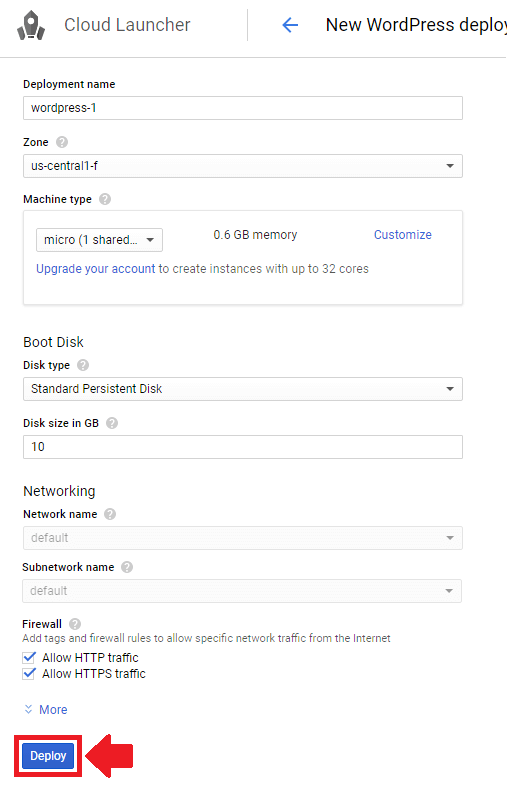 setup and install wordpress on google cloud platform configure wordpress settings