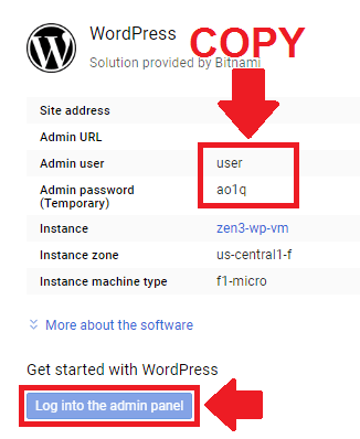 setup and install wordpress on google cloud platform bitnami
