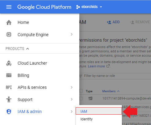 add users to google cloud projects