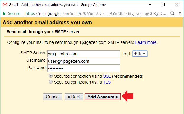 forward zoho mail to gmail