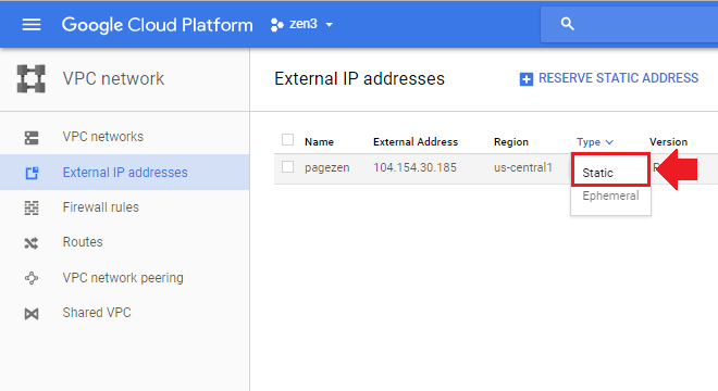 How to Reserve a Static IP Address on Google Cloud – One Page Zen