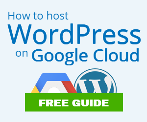 host wordpress on google cloud platform banner