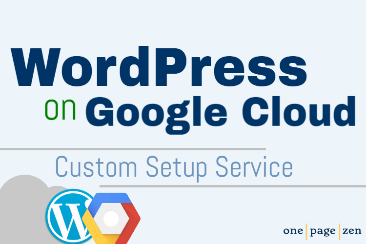 WordPress on Google Cloud Setup Service banner