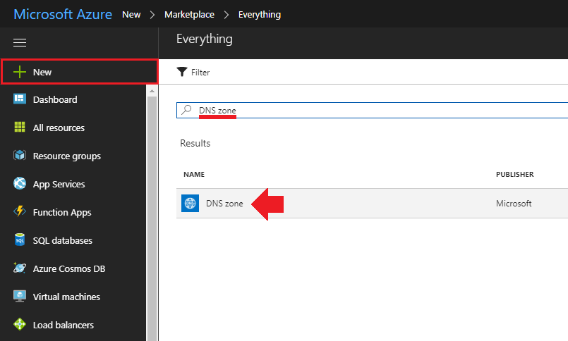 migrate wordpress to azure create dns zone