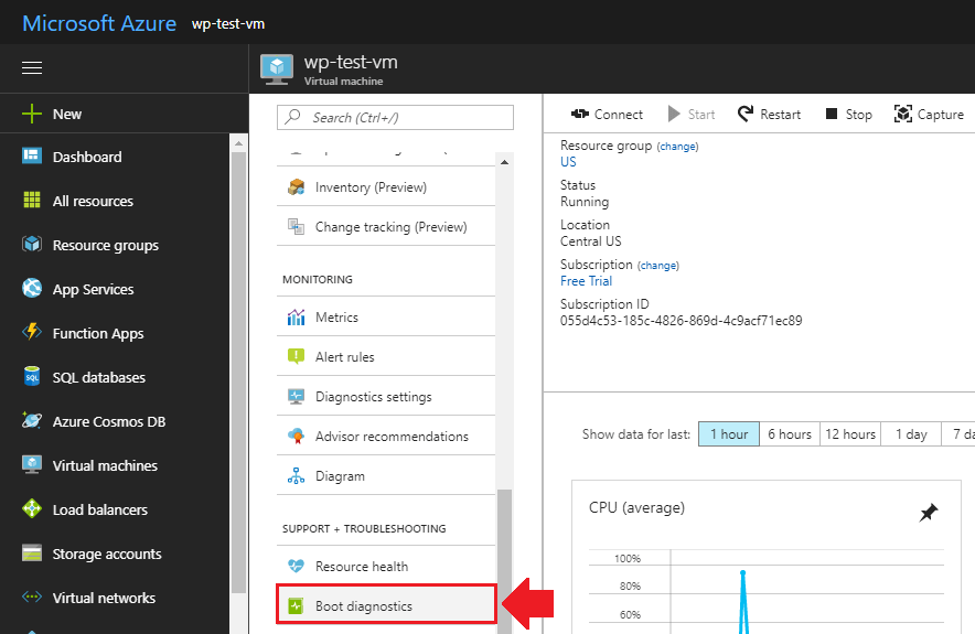 migrate wordpress to azure retrieve login credentials