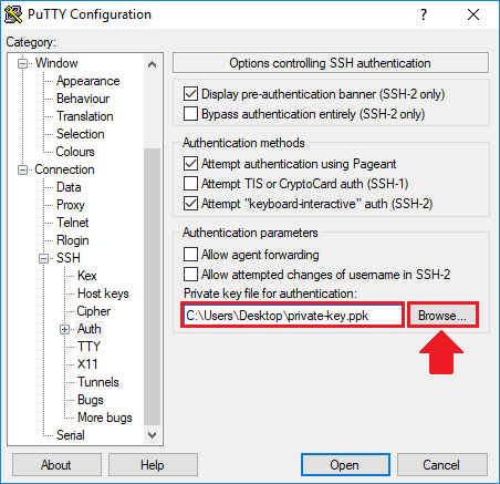 access phpmyadmin ssh tunnel upload private key