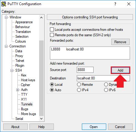 access phpmyadmin ssh tunnel port forwarding