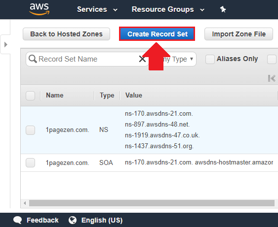 transfer domain to aws