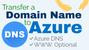 transfer a domain name to microsoft azure