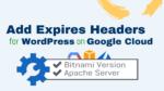 expires headers wordpress on google cloud bitnami