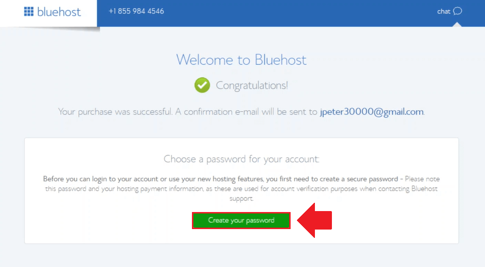 generate a password wordpress on bluehost cloud sites